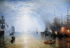 Joseph Mallord William Turner - Keelmen Heaving in Coals by Moonlight, 1835