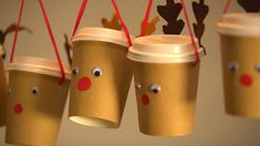 calendar: Great crafting instructions for reindeer cups - . Advent calendar: Great crafting instructions for reindeer cups - . Advent calendar: Great crafting instructions for reindeer cups - . Christmas Crafts For Kids To Make, Xmas Crafts, Christmas Art, Diy For Kids, Christmas Holidays, Diy And Crafts, Christmas Decorations, Christmas Gifts, Reindeer Christmas