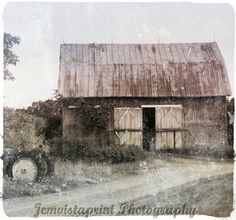 Barn and Tractor vintage barn and tractor photo by Jemvistaprint, $25.00