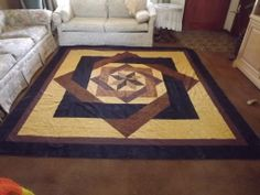 king size labyrinth in browns black and maze