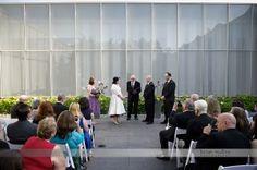 wedding ceremony at nc museum of art