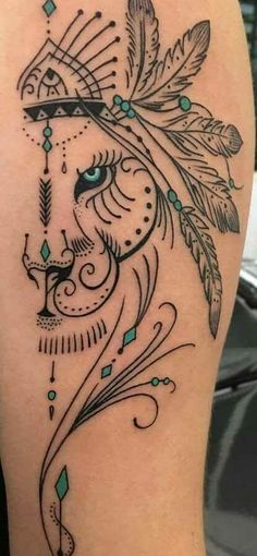 Ideas Tattoo Thigh Lion Design For 2019 Leo Tattoos, Body Art Tattoos, Sleeve Tattoos, Tatoos, Trendy Tattoos, Small Tattoos, Tattoos For Guys, Henna Designs, Tattoo Designs