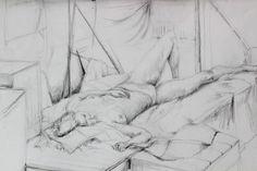 Aktstudie, liegender Akt - Zeichnungen,  59x42 cm ©2006 von Ralf Czekalla -                                                                                                                                    Figurative Kunst, Illustration, Realismus, Papier, Akt, Erotisch, Frauen, Körper, Menschen, akt, frau, nackt, weiblich, erotisch, aktstudie, aktzeichnung, art, kunst, bleistift, czekalla, kunstverkauf, kunstkauf, künstler, galerie, ausstellungen, fantasie, liegend, traum, sie