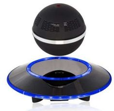 Deals week Levitating Bluetooth Speaker - Floating Wireless Speaker - Sci-Fi Speaker by Wasserstein (Black) Best Selling Surround Sound, Gadgets And Gizmos, Cool Gadgets, Latest Gadgets, Mp4 Player, Android, Bluetooth Speakers, Bluetooth Gadgets, Portable Speakers