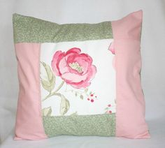 Floral Cushion Cover Nursery Pillow Pink and by LittleCottonShop, €15.00