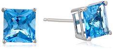 14k White Gold 6mm Princess-Cut Blue Topaz 4-Prong Studs Amazon Collection http://www.amazon.com/dp/B001AWXTKA/ref=cm_sw_r_pi_dp_pzBkvb08YHV6E