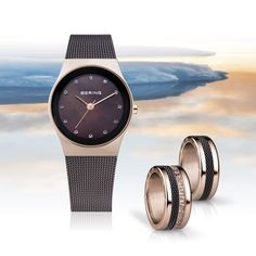Ladies watch and matching ring combinations; BERING; Classic Collection; Arctic Symphony Collection