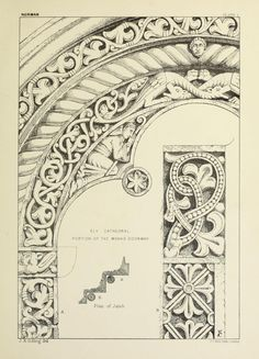 1874 - Examples of English mediaeval foliage and coloured decoration, taken from…