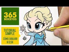 COMO DIBUJAR A ELSA DE FROZEN PASO A PASO - Dibujos kawaii faciles - How to draw a Elsa - YouTube