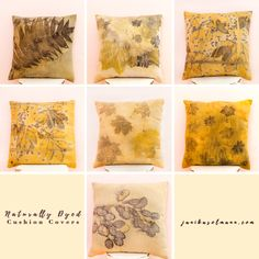 natural dye, eco print, botanical print, naturally dyed, cushion cover, pillow covers, home decore, taimedega värvitud