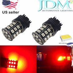 JDM ASTAR 4x 3157 3156 12V LED Red AX-2835 SMD Brake Tail Signal Light LED Bulbs #JDMASTARAX2835SMD3thbrighter505035281210