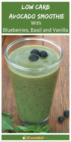 This delicious low carb avocado smoothie is the perfect alternative if you need a change from eggs for breakfast. It has only 6 net carbs and is packed with good fats and healing collagen protein. This keto friendly drink is full of flavor thanks. Avocado Smoothie, Smoothie Proteine, Fruit Smoothies, Healthy Smoothies, Breakfast Smoothies, Smoothie King, Healthy Fats, Keto Shakes, Avocado Toast