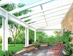Glass Patio Cover