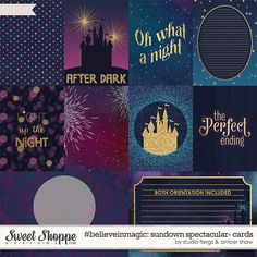#believeinmagic: Sundown Spectacular Cards by Amber Shaw & Studio Flergs