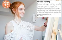 30 Days Of Happiness Challenge Day 23: Embrace Painting.  See more: www.teelieturner.com #painting