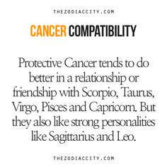Zodiac Files: Cancer Compatibility.