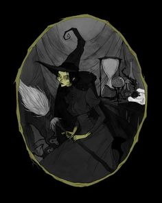 The Wicked Witch of the West Art Print by Abigail Larson - X-Small Abigail Larson, Witch Tattoo, Witch Art, Witch Decor, West Art, Vintage Witch, Wicked Witch, Dark Art, Fantasy Art