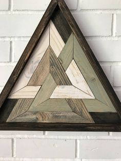 Holy Triangle Reclaimed Wooden Triangle Art Design Meditation