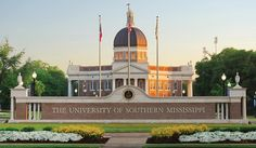 University of Southern Mississippi main entrance isn't that one of the best sights you have ever seen.