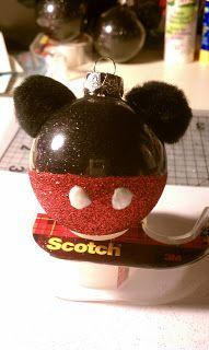 DIY Mickey Mouse Ornament #DIY #Disney #Christmas #Ornaments #Decorations #Decorate #Decor #MickeyEars #HomeDecor