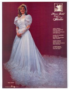 1985 Aug/Sept Brides years later and I would wear this gown still! someone else wrote this but I tell you this is beautiful. 1980s Wedding Dress, Ugly Wedding Dress, Wedding Dress With Veil, Gorgeous Wedding Dress, Wedding Dress Sleeves, Dream Wedding Dresses, Bridal Dresses, Wedding Gowns, Vintage Gowns