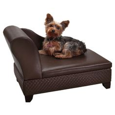 Gracie Storage Pet Bed in Brown.