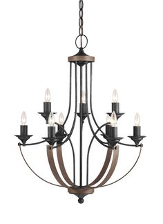 3280409en 846 Nine Light Chandelier Stardust