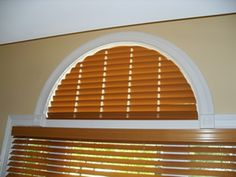 Fixed Faux Wood Arches | Arch Window Coverings
