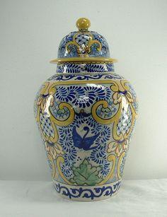 12 TILES Ceramic MEXICAN Talavera  Hand Made  #433