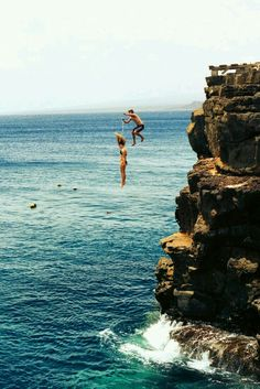 High cliff jumping