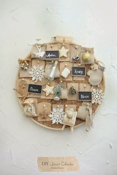 love the cork inside the hoop... and the pretty tags...