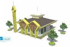 Hasil gambar untuk potongan masjid satu lantai