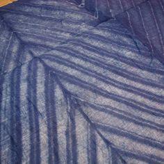 blue shibori linen