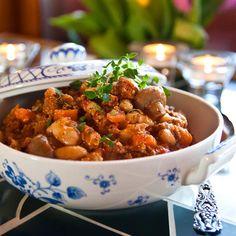 Slökokt köttfärsgryta med cannellinibönor Chana Masala, Slow Cooker Recipes, Stew, Curry, Ethnic Recipes, Food, Curries, One Pot, Essen