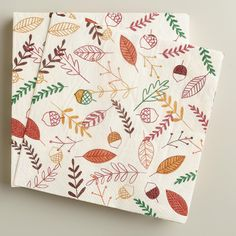 Printed with layers of fall leaves designed exclusively for World Market, our festive buffet napkins are perfect for Thanksgiving and harvest get-togethers.