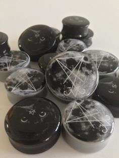 Moon sigil and Black cat plugs available online at www.ukcustomplugs.co.uk treat yourself!