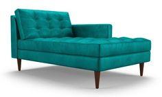Eliot Leather Single Arm Chaise