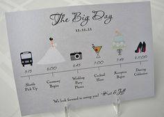 $1.40 Wedding Timeline Card by pixelstopaper on Etsy from pixelstopaper on Etsy