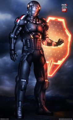 Fashion // Armor // Weaponry // Mass Effect 3 Paladin by Arte Ninja, Arte Robot, Mass Effect Characters, Sci Fi Characters, Robot Concept Art, Armor Concept, Alien Concept, Arte Sci Fi, Mass Effect Art