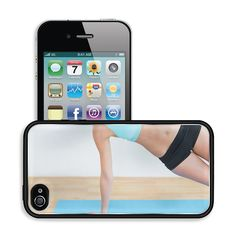 Luxlady Premium Apple iPhone 4 iPhone 4S Aluminum Backplate Bumper Snap Case IMAGE ID: 25457024 Close up of a slim young woman doing the side plank yoga pose in fitness studio *** Check out the image by visiting the link.