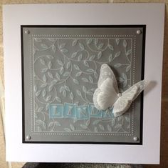 Inkymits by Maria Simms: Groovi Sprig. Barbara Gray, Parchment Cards, Hobbies And Crafts, Blue Bird, Embellishments, Card Ideas, Card Making, Paper Crafts, Stamp