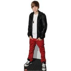 Amazon.com: (25x70) Justin Bieber Red Lifesize Standup Poster: