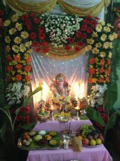 100 Home Ganpati Decorations Ideas Pictures Part 2 3 ...