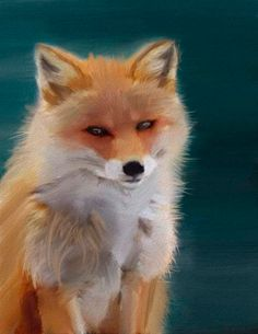 Fox art print  fox artwork  animal painting  by ArtFromDreamland, €6.90
