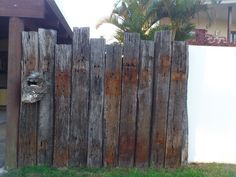 salvaged chunky rustic  reused  [ This one was found @ Mermaid Beach & part of research for a fence design ]