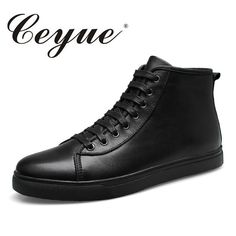 Ceyue Autumn Top Quality Genuine Leather Men Boots New Handmade Walking Comfort Men Casual Shoes Plus Size Moccasins Men Shoes #Affiliate