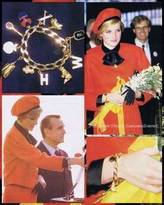 Diana, Princess of Wales charm bracelet was not worn after they separated as Diana had said it had too many memories attached. Charles had given it to her and added a charm every year on their wedding anniversary. Her first charm was the letter 'W' for Prince William.