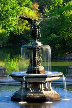 'Central Park Fountain' New York by Brian Jannsen