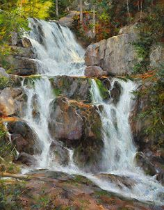 Lots of movement and light action (Katahdin Stream Falls by Steven Hileman)