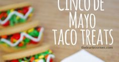 """Momma always said, """"Don't play with your food"""", but I think we should make an exception in the case of cookie tacos! These little cuties easy to make, not to mention ¡muy delicioso! and fun for kids of all ages. Perfect for a Cinco De Mayo celebration or any fiesta! Taco Cupcakes, Placemat Ideas, Dragons Love Tacos, Kitten Party, Party Themes, Party Ideas, Taco Party, Bridal Shower, Baby Shower"""